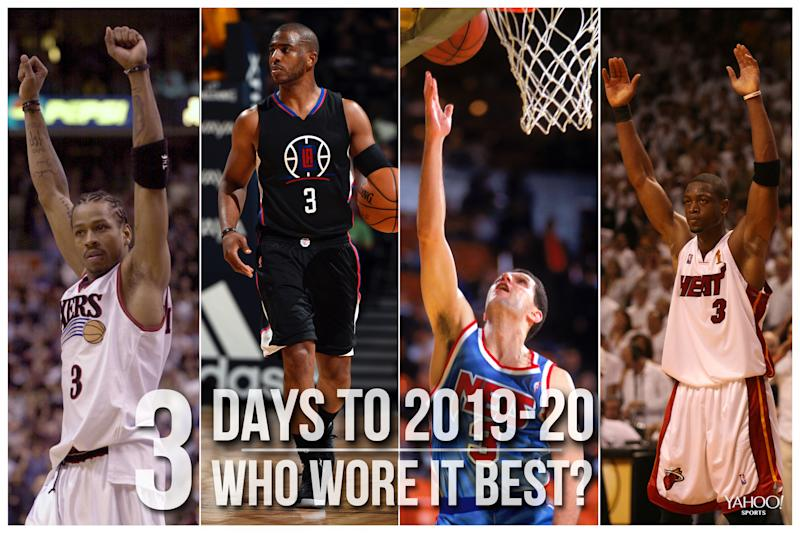 Which NBA player wore No. 3 best?