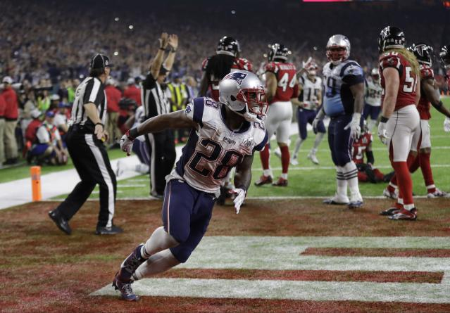 James White's game-winning touchdown was a great thing for Patriots fans and a terrible one for some bettors. (AP Photo/Elise Amendola)