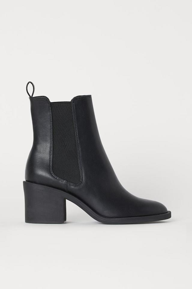 "<p>You can't go wrong with these <a href=""https://www.popsugar.com/buy/HampM-Heeled-Boots-478159?p_name=H%26amp%3BM%20Heeled%20Boots&retailer=www2.hm.com&pid=478159&price=40&evar1=fab%3Aus&evar9=46395601&evar98=https%3A%2F%2Fwww.popsugar.com%2Ffashion%2Fphoto-gallery%2F46395601%2Fimage%2F46597293%2FHM-Heeled-Boots&list1=shopping%2Ch%26m%2Cfall%20fashion%2Caffordable%20shopping&prop13=mobile&pdata=1"" rel=""nofollow"" data-shoppable-link=""1"" target=""_blank"" class=""ga-track"" data-ga-category=""Related"" data-ga-label=""https://www2.hm.com/en_us/productpage.0792939001.html"" data-ga-action=""In-Line Links"">H&amp;M Heeled Boots</a> ($40).</p>"