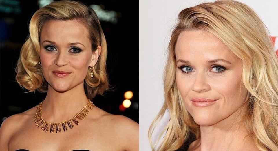 It's hard to believe these two photos of Reese Witherspoon were taken 10 years apart. [Instagram]