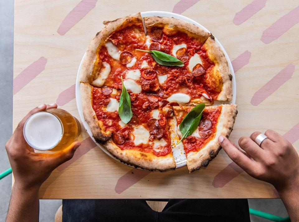 """<p>There are now four locations of this local pizza favourite in London: Crystal Palace, Nunhead, West Norwood and Herne Hill. And we love them all. </p><p>Bustling whatever time of the day you go, we would recommend getting there early so you can indulge in a Negroni and a classic Margherita. </p><p>Or opt for something with more of a kick, like The Rhubarb One which has chipotle rolled goats cheese and rhubarb with piquillo peppers. Trust us, it works!</p><p>Address: 30-32 Westow St, Upper Norwood, London SE19 3A<br></p><p><strong>Click <a href=""""https://www.400rabbits.co.uk"""" rel=""""nofollow noopener"""" target=""""_blank"""" data-ylk=""""slk:here"""" class=""""link rapid-noclick-resp"""">here</a> for more information. </strong></p>"""