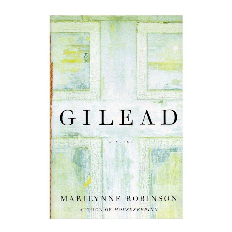 """<p><strong>$7.18 <a class=""""link rapid-noclick-resp"""" href=""""https://www.amazon.com/Gilead-Novel-Marilynne-Robinson/dp/031242440X?tag=syn-yahoo-20&ascsubtag=%5Bartid%7C10050.g.35033274%5Bsrc%7Cyahoo-us"""" rel=""""nofollow noopener"""" target=""""_blank"""" data-ylk=""""slk:BUY NOW"""">BUY NOW</a></strong></p><p><strong>Genre: </strong>Fiction</p><p>In a moving letter to his young son, Reverend John Ames shares many of the most memorable stories, experiences, and lessons of his life. In acknowledging the tension between his pacifist father and army-chaplain grandfather, he speaks on the sacred and often tested bond between father and son.</p>"""