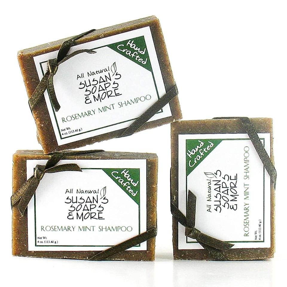 <p>These eco-friendly <span>Rosemary Mint Shampoo Bars For Hair &amp; Body</span> ($23) will streamline your shower routine.</p>
