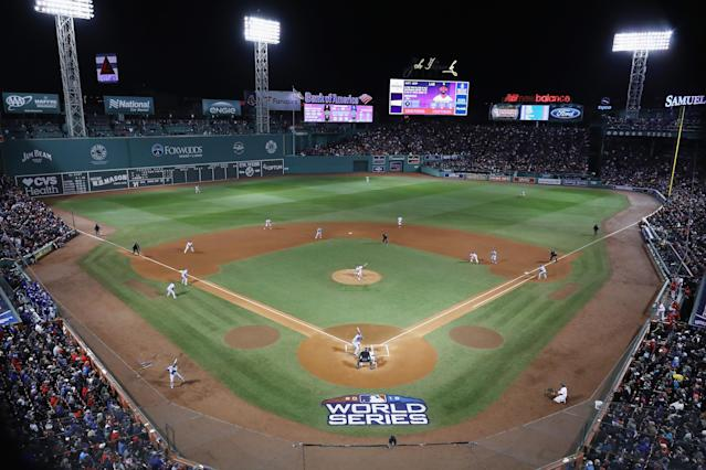 The World Series between the Dodgers and Red Sox isn't impressing in the ratings. (Getty Images)