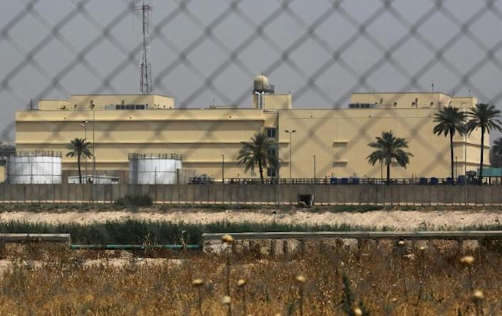 The sprawling US embassy in Baghdad sits mostly empty, which analysts say is a clear sign of reduced US interests in Iraq (AFP Photo/AHMAD AL-RUBAYE)