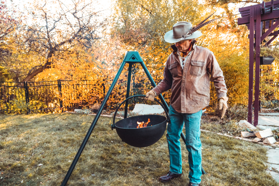 "<p>Splurge on a Cowboy Cauldron for cooking dinners or gathering around a campfire.</p> <p><strong>BUY IT:</strong> $899; <a href=""https://cowboycauldron.com/products/the-dude"" rel=""nofollow noopener"" target=""_blank"" data-ylk=""slk:cowboycauldron.com"" class=""link rapid-noclick-resp"">cowboycauldron.com</a></p>"