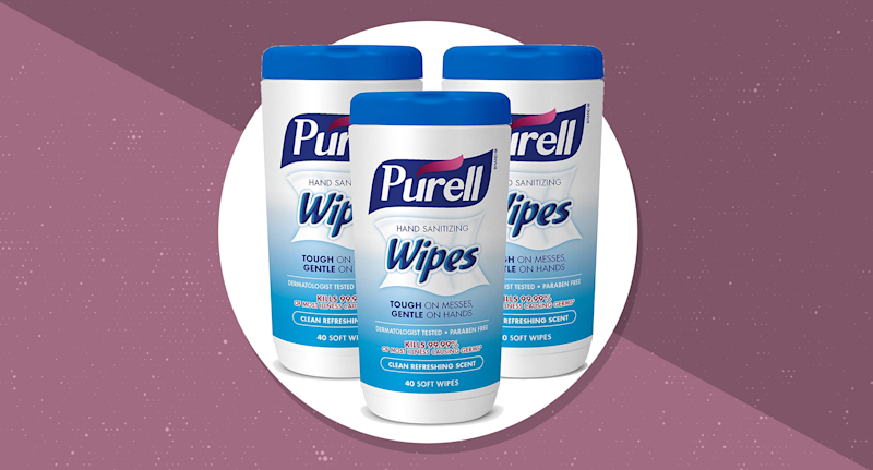 Purell Hand Sanitizing Wipes, 40 count — 3 pack (Photo: Purell)