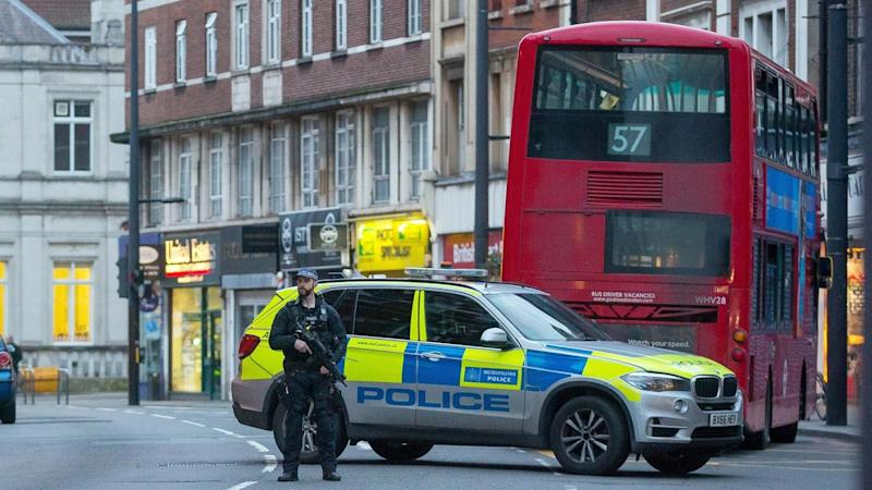 A man has been shot dead by police in south London after a 'terrorist-related' stabbing attack