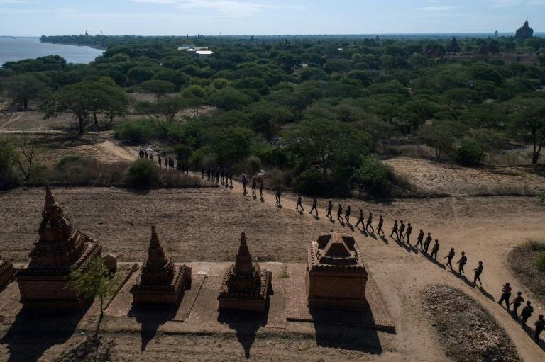 In a spate of break-ins across the holy site in Myanmar last month, robbers looted 12 different temples, swiping a range of relics, including copper stupas, ancient coins and jade jeweller