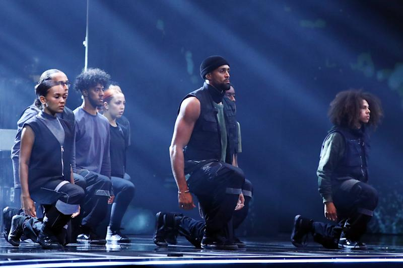 Britain's Got Talent champions Diversity returned to the ITV show earlier this month to perform a powerful routine inspired by the events of 2020, including the killing of George Floyd and the Black Lives Matter protests that followed. (Photo: Dymond/Thames/Syco/Shutterstock)
