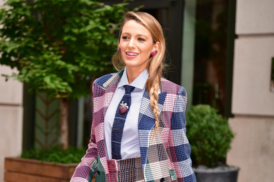 Blake Lively has been wearing many suits during her press tour for 'A Simple Favor'. So we investigated why.