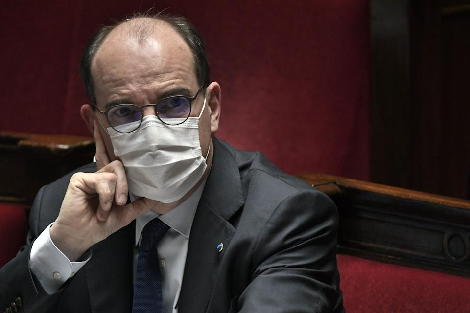 French Prime Minister Jean Castex attends a session of questions to the government at the National Assembly in Paris on April 13, 2021. (Photo by STEPHANE DE SAKUTIN / AFP) (Photo by STEPHANE DE SAKUTIN/AFP via Getty Images)