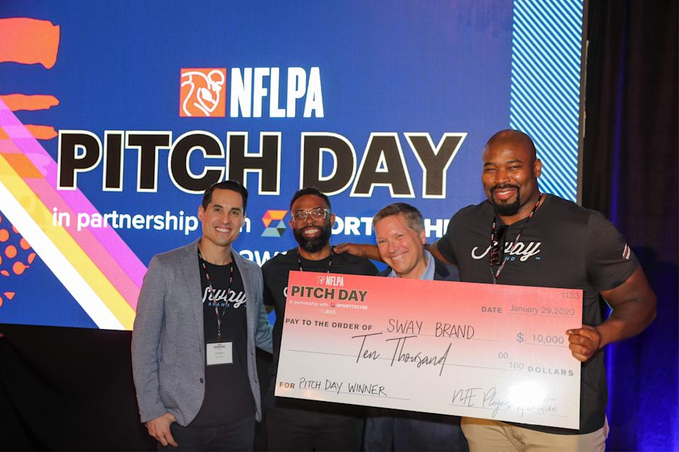 Last year's winner, SwayBrand, connects multicultural influencers and content creators with brands for collaborations that yield thoughtful and authentic content campaigns. (Photo by Kevin Koski/NFLPA)