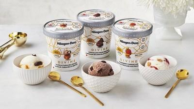 Announcing the launch of the new Häagen-Dazs® DIVINE collection in Canada, a range of three remarkably light ice cream flavours featuring the same creamy taste Canadians know and love, with 50 per cent less fat and 25 per cent less sugar than regular Häagen-Dazs ice cream (CNW Group/Häagen-Dazs)