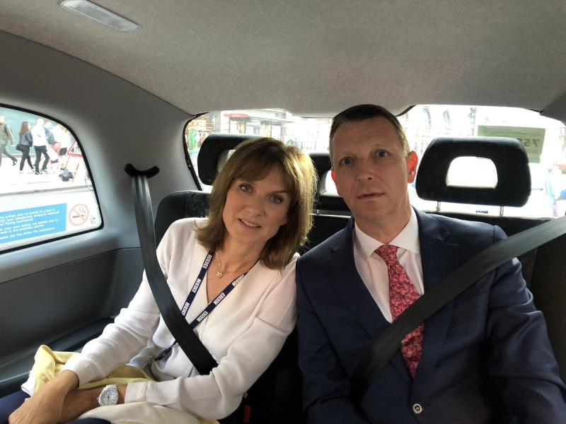 Fiona Bruce and Mark Easton More