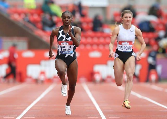 Dina Asher-Smith posted her season best time in Holland