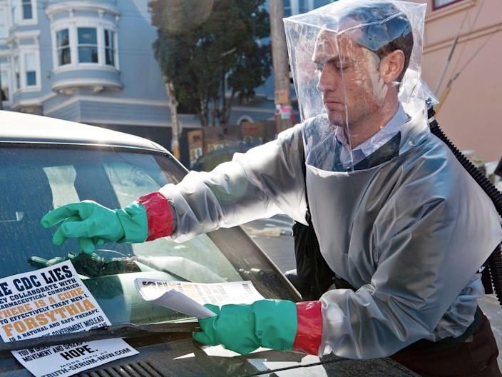"Jude Law in ""Contagion."" <p class=""copyright"">Warner Bros.</p>"