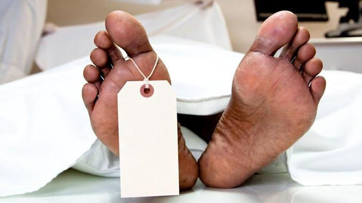 Feet in a mortuary
