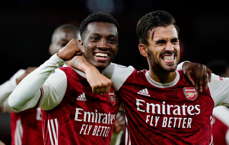 'It's all love now' - Nketiah in tune with Ceballos for Arsenal winner