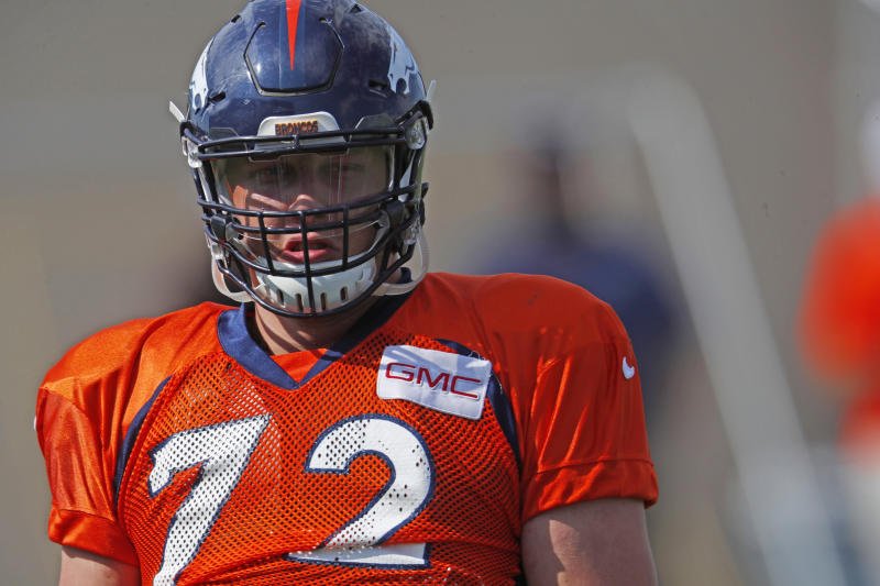 Denver Broncos offensive tackle Garett Bolles did not have his fifth-year option picked up. (AP Photo/David Zalubowski, File)