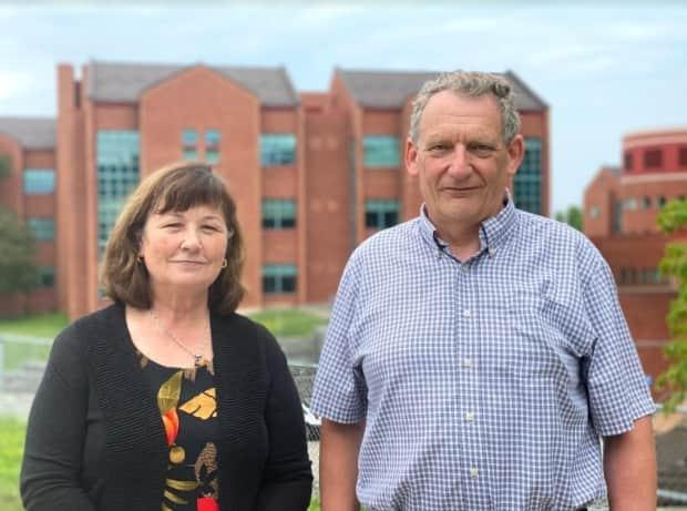 Heather and Malcolm Lister, the parents of Tom Lister, a resident patient at Grand River Hospital's Freeport Campus, say the hospital's internet policy has left them having to pay for the streaming services the 30-year-old needs to thrive. (Hala Ghonaim/CBC News - image credit)