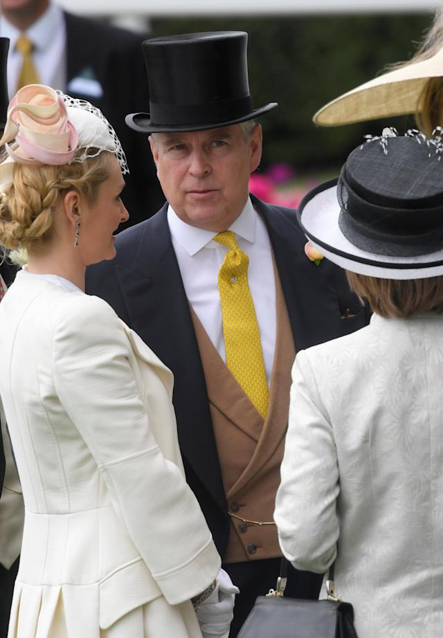 Horse Racing - Royal Ascot - Ascot Racecourse, Ascot, Britain - June 23, 2017 Prince Andrew at Ascot REUTERS/Toby Melville