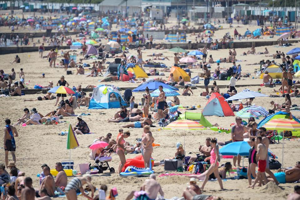 Bournemouth beach was packed again on Friday (Getty Images)