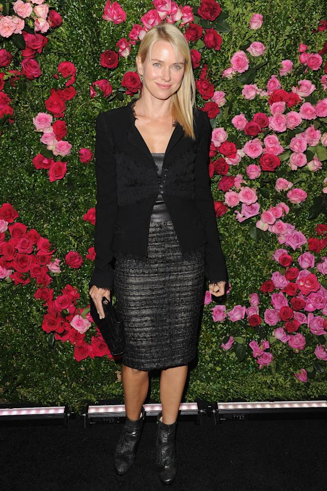 NEW YORK, NY - APRIL 24:  Naomi Watts attends the Chanel Artist Dinner during the 2012 Tribeca Film Festival at the The Odeon on April 24, 2012 in New York City.  (Photo by Craig Barritt/Getty Images)