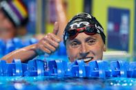 <p>Thumbs up to you if you guessed swimming powerhouse Katie Ledecky! </p>