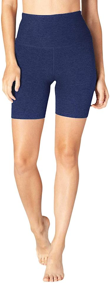 """<p>These <product href=""""https://www.amazon.com/Beyond-Yoga-Spacedye-Waisted-Shorts/dp/B088QD12TM?s=shopbop&amp;ref_=sb_ts&amp;th=1&amp;psc=1"""" target=""""_blank"""" class=""""ga-track"""" data-ga-category=""""internal click"""" data-ga-label=""""https://www.amazon.com/Beyond-Yoga-Spacedye-Waisted-Shorts/dp/B088QD12TM?s=shopbop&amp;ref_=sb_ts&amp;th=1&amp;psc=1"""" data-ga-action=""""body text link"""">Beyond Yoga Space Dye Bike Shorts</product> ($68) are so comfortable, you won't want to take them off.</p>"""