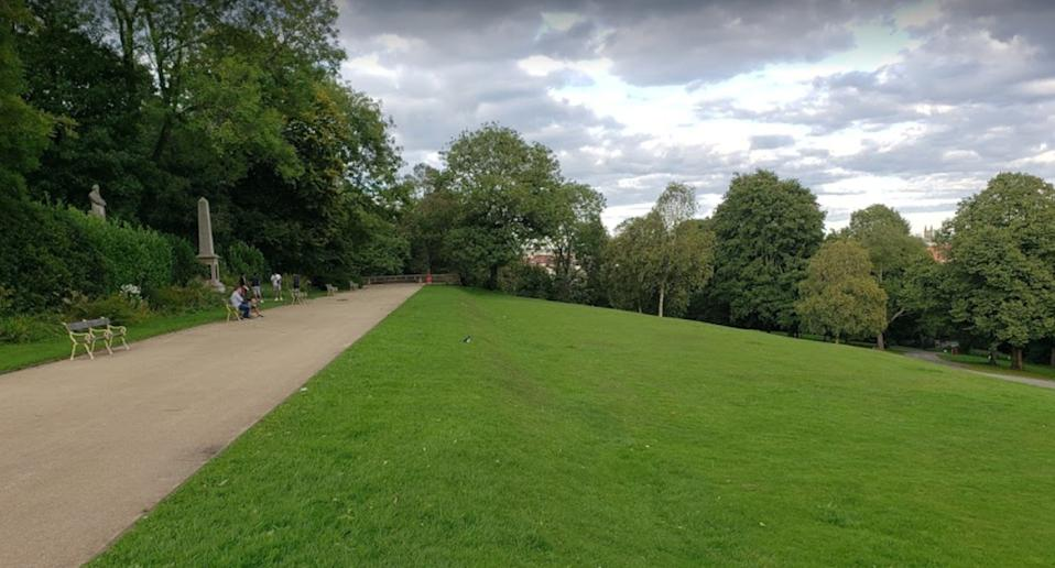 A path in Queen's Park, Bolton in Greater Manchester, England