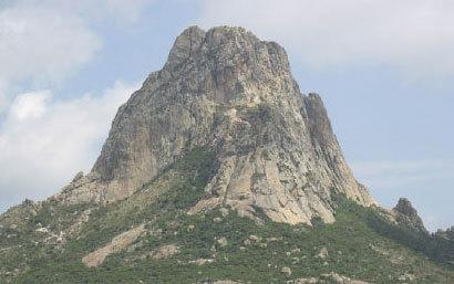 Peña de Bernal Natural Monument, the world's tallest monolith, located in north-central Mexico.