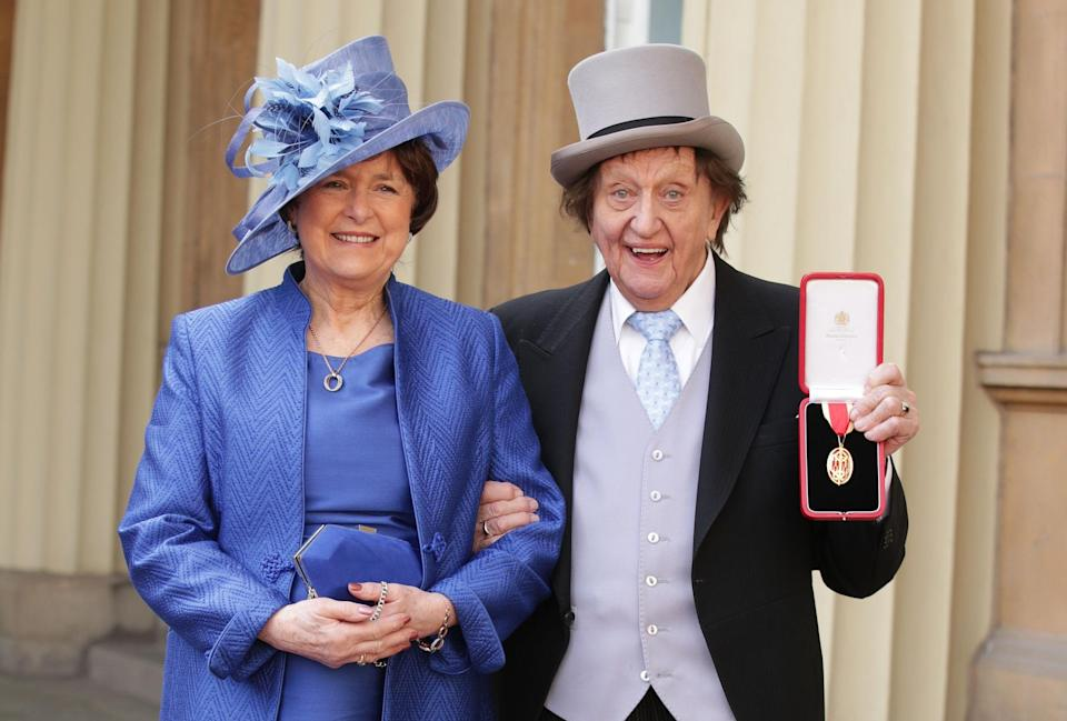 The late Sir Ken Dodd and his wife Anne. (PA)