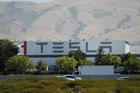 FILE PHOTO: The Tesla factory is seen in Fremont, California, U.S. June 22, 2018. REUTERS/Stephen Lam/File Photo