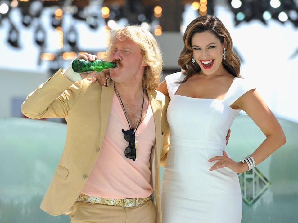 Leigh Francis as Keith Lemon with Kelly Brook at Cannes Film Festival, May 2012 (Getty Images)