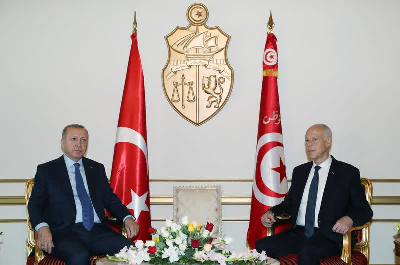 Turkey's President Erdogan meets with Tunisia's President Saied in Tunis