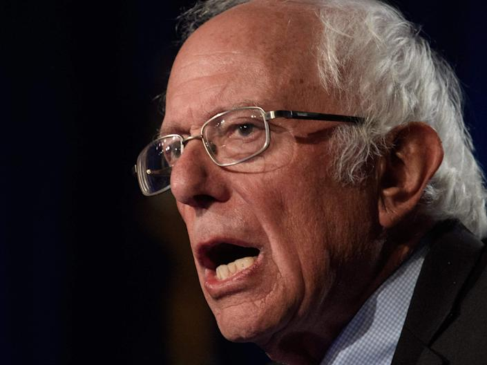 Bernie Sanders has contrasted the stagnant level of pay with the vastly increased wealth of America's richest people (AFP via Getty Images)