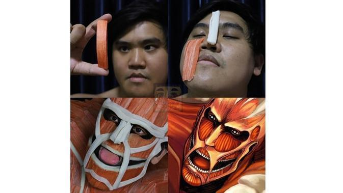 6 Cosplay Low Budget Anime Attack On Titan Ini Bikin Ngakak (sumber: Instagram/lowcostcosplayth)