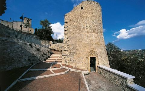 A medieval tower in Campobasso, Molise - Credit: De Agostini Editorial
