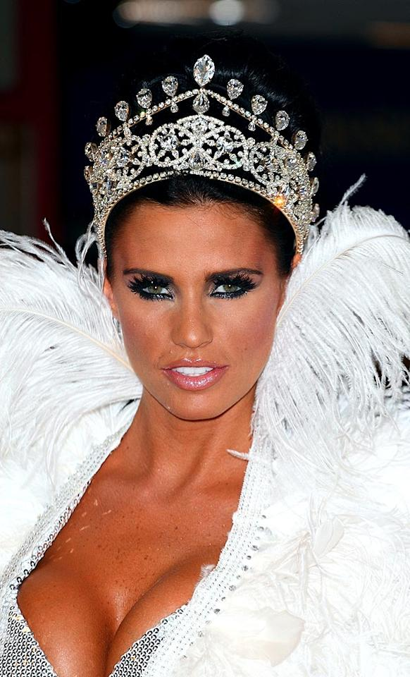 "Katie Price completed her over-the-top look with a gaudy crown. Mike Marsland/<a href=""http://www.wireimage.com"" target=""new"">WireImage.com</a> - July 17, 2008"