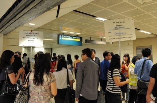 Disruptions paralysed a new multi-billion-dollar line on Singapore's metro for the third day in a row