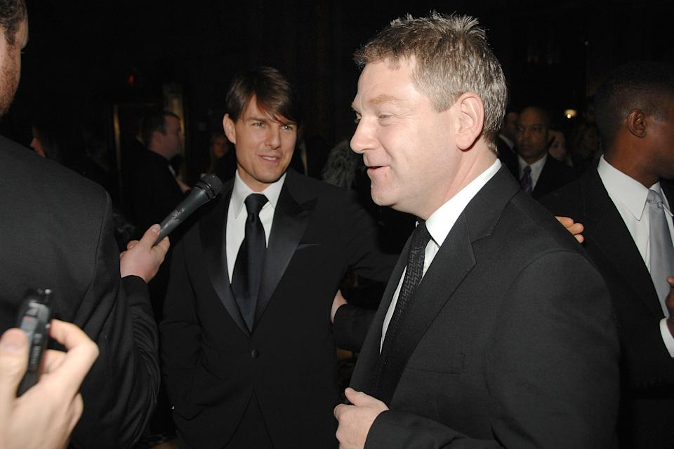 NEW YORK CITY, NY - NOVEMBER 6: Tom Cruise and Kenneth Branagh attend MUSEUM OF THE MOVING IMAGE SALUTES TOM CRUISE at Cipriani 42nd Street on November 6, 2007 in New York City. (Photo by BILLY FARRELL/Patrick McMullan via Getty Images)