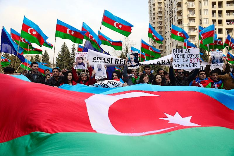 Mainly Muslim Azerbaijan is wedged between Iran and Russia
