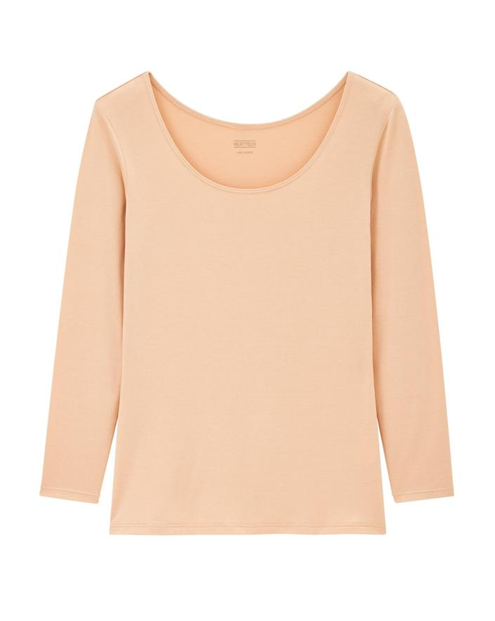 """<p>If you're lucky enough to find this top in stock, buy two! The extra-thin layering piece is a must-have when temperatures drop.</p> <p><strong>Buy it!</strong> $20; <a href=""""https://click.linksynergy.com/deeplink?id=93xLBvPhAeE&mid=40462&murl=https%3A%2F%2Fwww.uniqlo.com%2Fus%2Fen%2Fwomen%2Fheattech&u1=PEOIntroducingPEOPLEsProductsWorththeHypein2021khogan1271StyGal12821774202107I"""" rel=""""sponsored noopener"""" target=""""_blank"""" data-ylk=""""slk:uniqlo.com"""" class=""""link rapid-noclick-resp"""">uniqlo.com</a></p>"""