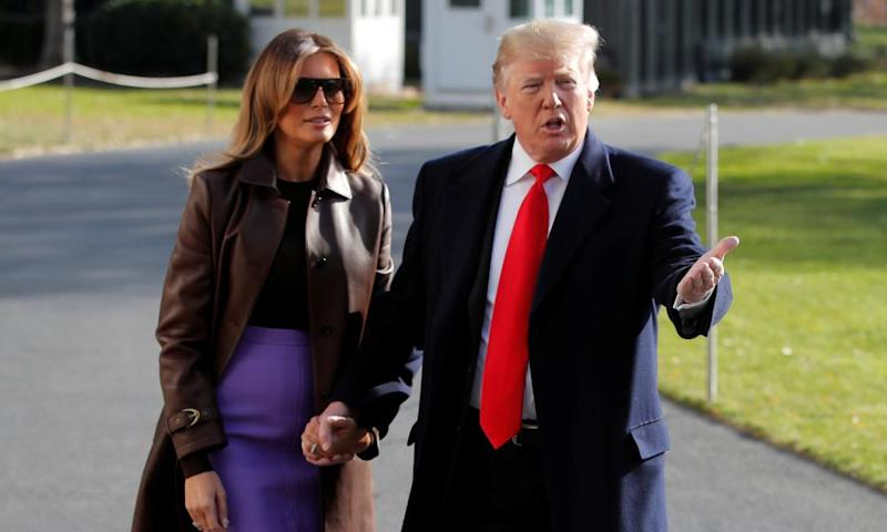 Trump and Melania on Thursday. We now live in a world where America's truly worst president ever insists that cash is king.
