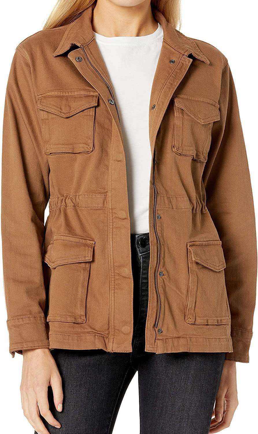 <p>We appreciate that this <span>The Drop Andi Zip Front Stretch Denim Utility Jacket</span> ($60) has tons of pockets.</p>