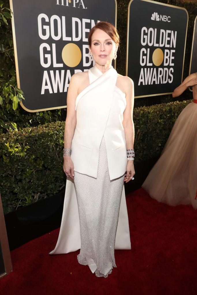<p>Julianne Moore attends the 76th Annual Golden Globe Awards at the Beverly Hilton Hotel in Beverly Hills, Calif., on Jan. 6, 2019. (Photo: Getty Images) </p>