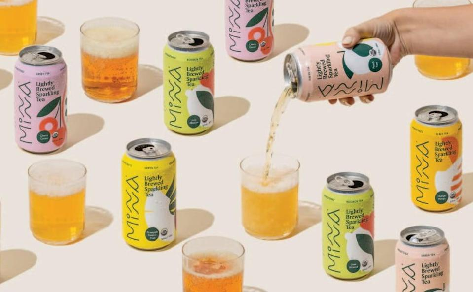 <p>The <span>Minna Organic Sparkling Tea</span> ($30 for 12) is a lightly brewed refreshing tea that will cool your off in the summer. It comes in pineapple passion fruit iced tea, orange mange iced tea, and hibiscus lime rooibos iced tea.</p>