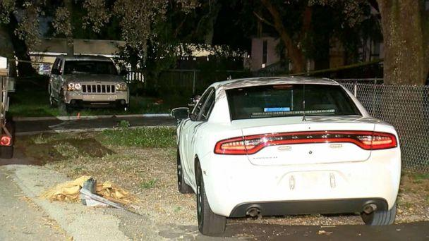 PHOTO: A child died after being left inside a hot car in Tampa, Fla., on Oct. 14, 2019. (WFTS)