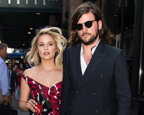 If you liked Dianna Agron's unexpected wedding dress, you should see the groom!